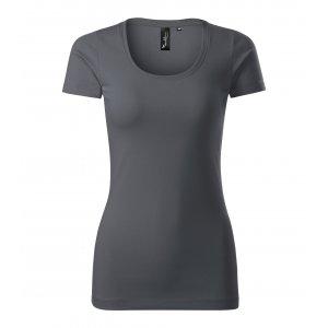 Dámské triko s krátkým rukávem MALFINI PREMIUM ACTION 152 LIGHT ANTHRACITE