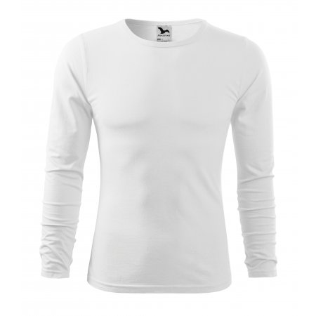 Pánské triko s dlouhým rukávem MALFINI FIT-T LS 119 BÍLÁ