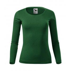 Dámské triko s dlouhým rukávem MALFINI FIT-T LS 169 LAHVOVĚ ZELENÁ