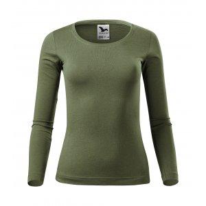 Dámské triko s dlouhým rukávem MALFINI FIT-T LS 169 KHAKI