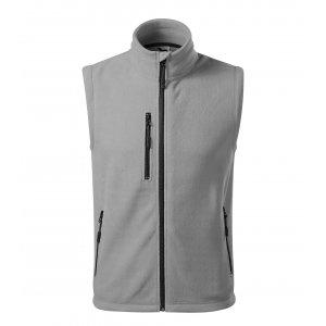 Pánská fleecová vesta MALFINI EXIT 525 SVĚTLE ŠEDÁ