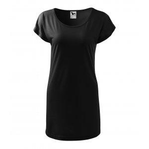 Dámské prodloužené triko MALFINI LOVE 123 ČERNÁ