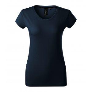 Dámské triko s krátkým rukávem MALFINI PREMIUM EXCLUSIVE 154 NÁMOŘNÍ MODRÁ