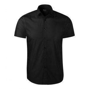 Pánská košile s krátkým rukávem MALFINI PREMIUM FLASH 260 ČERNÁ