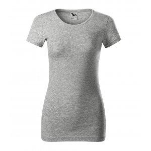 Dámské triko MALFINI GLANCE 141 TMAVĚ ŠEDÝ MELÍR