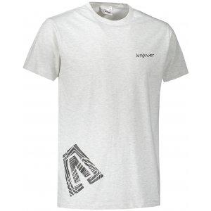 Pánské triko ALTISPORT ALM013129 SVĚTLE ŠEDÝ MELÍR