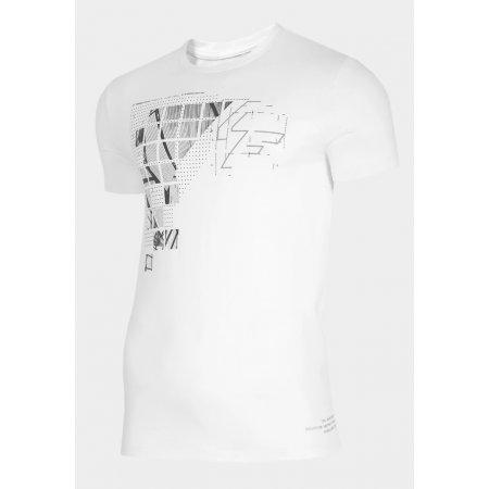 Pánské triko 4F D4Z20-TSM205 WHITE