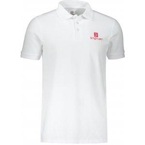Pánské triko s límečkem ALTISPORT ALM008203 BÍLÁ