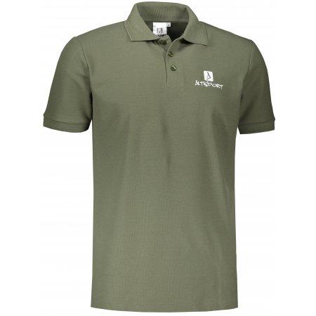 Pánské triko s límečkem ALTISPORT ALM008203 KHAKI