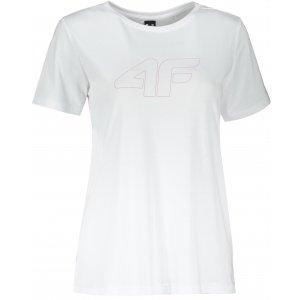 Dámské triko 4F D4Z20-TSD304 WHITE