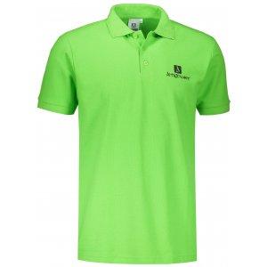 Pánské triko s límečkem ALTISPORT ALM008203 APPLE GREEN
