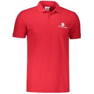Pánské triko s límečkem ALTISPORT ALM008203 ČERVENÁ