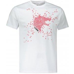 Pánské triko ALTISPORT ALM022129 BÍLOČERVENÁ