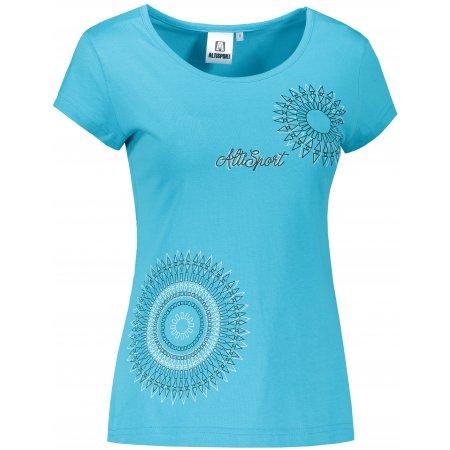 Dámské triko ALTISPORT ALW024122 TYRKYSOVÁ