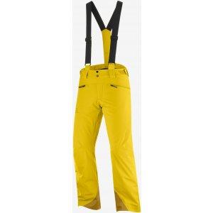 Pánské lyžařské kalhoty SALOMON FORCE PANT M  LC1403400 LEMON CURRY