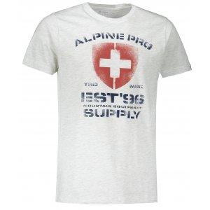 Pánské triko ALPINE PRO DRACH MTSS564 BÍLÁ