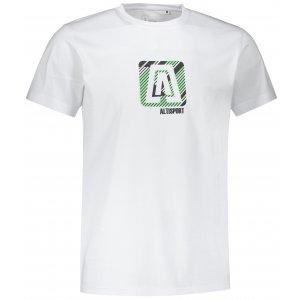 Pánské triko ALTISPORT ALM023F29 BÍLOZELENÁ
