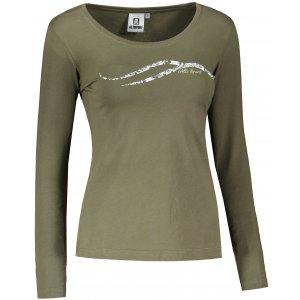 Dámské triko s dlouhým rukávem ALTISPORT ALW001169 KHAKI