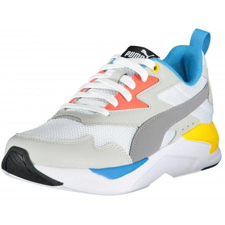 Pánské sportovní boty PUMA X-RAY LITE PUMA WHITE/STEEL GRAY/GRAY VIOLET