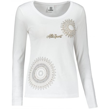 Dámské triko s dlouhým rukávem ALTISPORT ALW024169 BÍLÁ