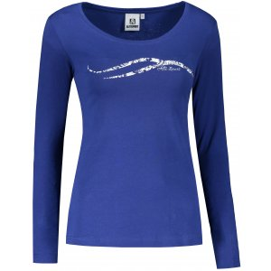 Dámské triko s dlouhým rukávem ALTISPORT ALW001169 MODROBÍLÁ