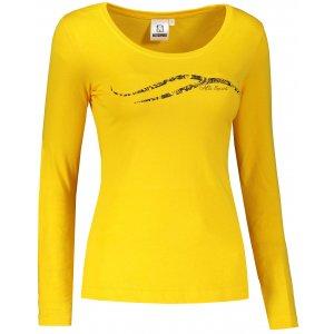 Dámské triko s dlouhým rukávem ALTISPORT ALW001169 ŽLUTÁ