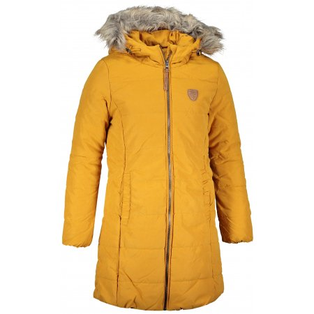 Dívčí zimní kabát SAM 73 SALLY GB 536 TMAVĚ OKROVÁ
