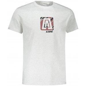 Pánské triko ALTISPORT ALM023F29 SVĚTLE ŠEDÝ MELÍR