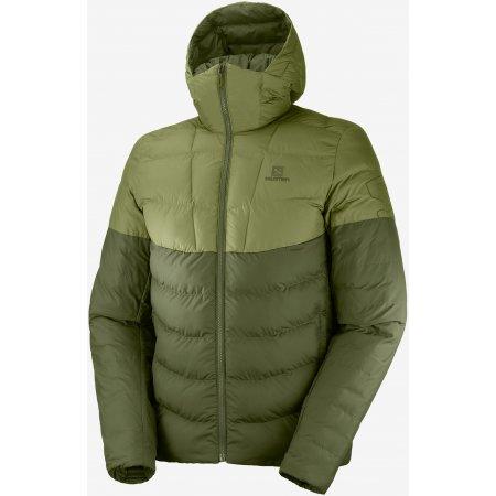 Pánská zimní bunda SALOMON SIGHT STORM HOODIE M LC1394600 OLIVE NIGHT/MARTINI OLIVE