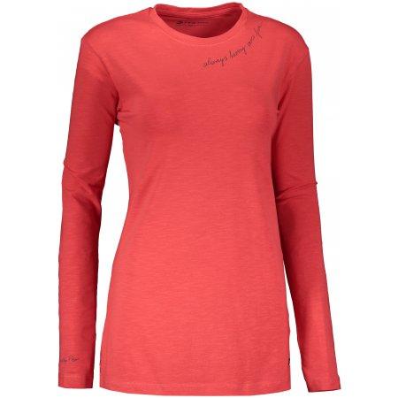 Dámské triko s dlouhým rukávem ALPINE PRO MEGANA LTSS658 ČERVENÁ