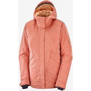 Dámská zimní bunda SALOMON SNOW REBEL JKT W  LC1383100 BRICK DUST/HEATHER