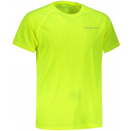 Pánské funkční triko ALPINE PRO MAWEL MTSS594 SVÍTIVĚ ZELENÁ