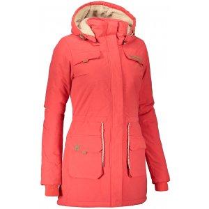 Dámský zimní kabát ALPINE PRO EDITE 5 LCTS103 ČERVENÁ