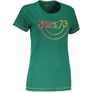 Dámské triko SAM 73 CERINA LTSS681 TMAVĚ ZELENÁ