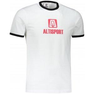 Pánské triko ALTISPORT ALM006131 BÍLOČERVENÁ