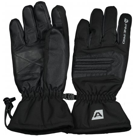 Lyžařské rukavice ALPINE PRO KAROG UGLS013 ČERNÁ