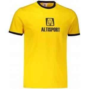 Pánské triko ALTISPORT ALM006131 ŽLUTÁ