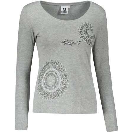 Dámské triko s dlouhým rukávem ALTISPORT ALW024169 TMAVĚ ŠEDÝ MELIR