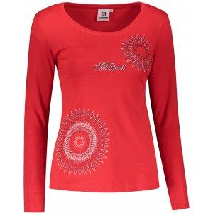 Dámské triko s dlouhým rukávem ALTISPORT ALW024169 ČERVENÁ