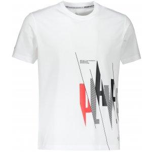 Pánské triko PEAK ROUND NECK T SHIRT F602203 BÍLÁ