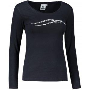Dámské triko s dlouhým rukávem ALTISPORT ALW001169 NÁMOŘNÍ MODRÁ