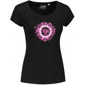 Dámské triko ALTISPORT ALW025F61 ČERNORŮŽOVÁ
