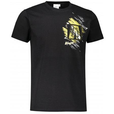 Pánské triko ALTISPORT ALM032129 ČERNOŽLUTÁ