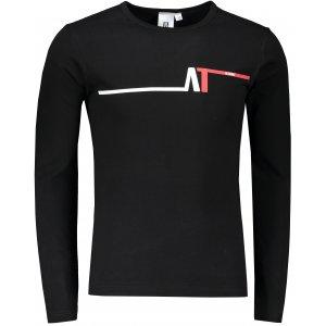 Pánské triko s dlouhým rukávem ALTISPORT ALM037119 ČERNOČERVENÁ
