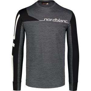 Pánské funkční triko NORDBLANC TRY NBWFM7355 GRAFITOVÝ MELÍR