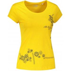 Dámské triko ALTISPORT ALW035F61 ŽLUTÁ