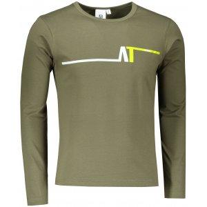 Pánské triko s dlouhým rukávem ALTISPORT ALM037119 KHAKI