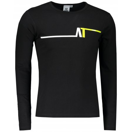 Pánské triko s dlouhým rukávem ALTISPORT ALM037119 ČERNOZELENÁ