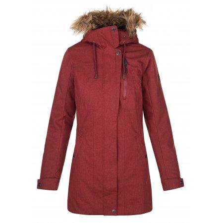 Dámský zimní kabát KILPI PERU-W NL0072KI TMAVĚ ČERVENÁ