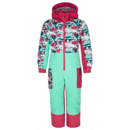 Dívčí lyžařská kombinéza KILPI SAARIN-JG NJ0024KI RŮŽOVÁ